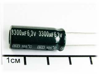Конденсатор (MZ), 3300мкФ х 6,3В, 105С, jamicon