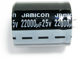Конденсатор, 22000мкФ х 25В, 85C, jamicon