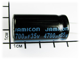 Конденсатор (TKR), 4700мкФ х 35В, 105С, jamicon