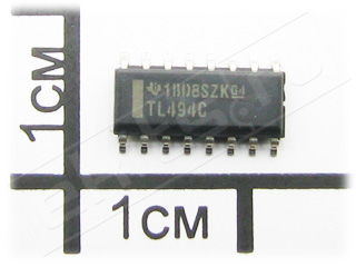 TL494CDR, Pulse Width Modulation Control Circuit, SO-16