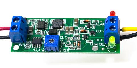 Контроллер заряда SCD0049, заряд аккумулятора